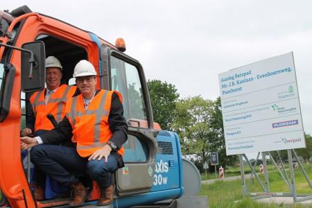Werkzaamheden fietspad Kanlaan/Evenboersweg officieel gestart