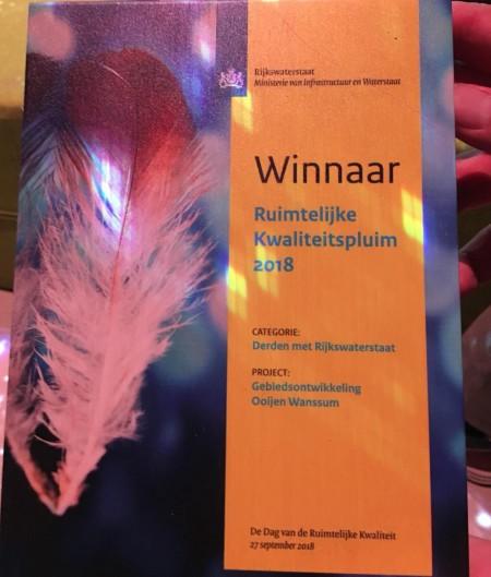 Ooijen-Wanssum wint Ruimtelijke Kwaliteitspluim