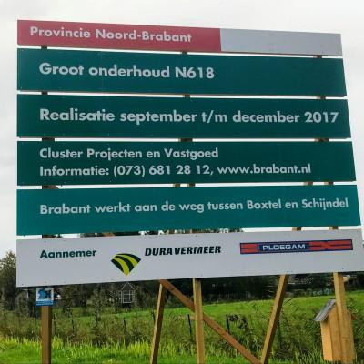Groot onderhoud N618 Boxtel - Schijndel