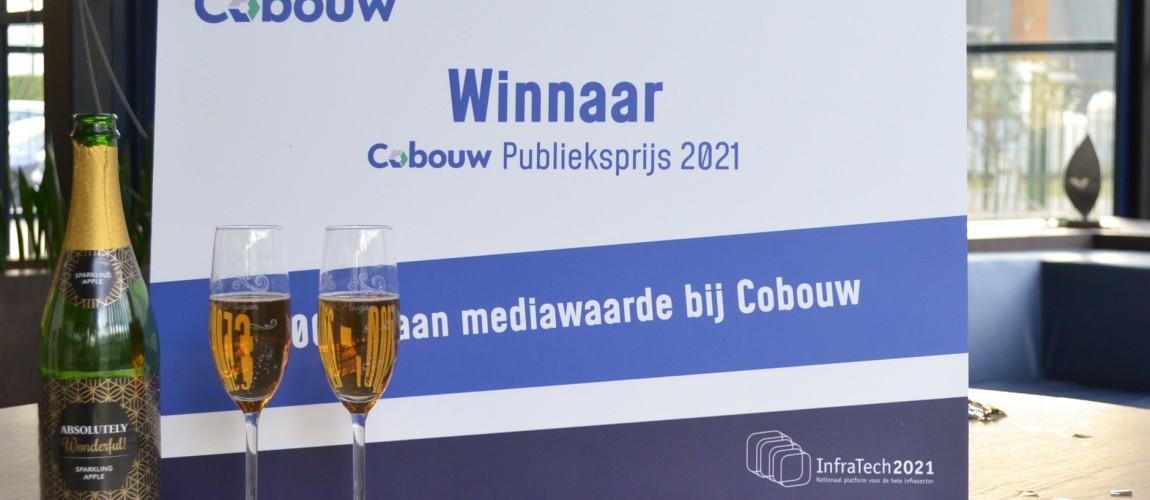 Wij zijn winnaar van de Cobouw Infratech Publieksprijs